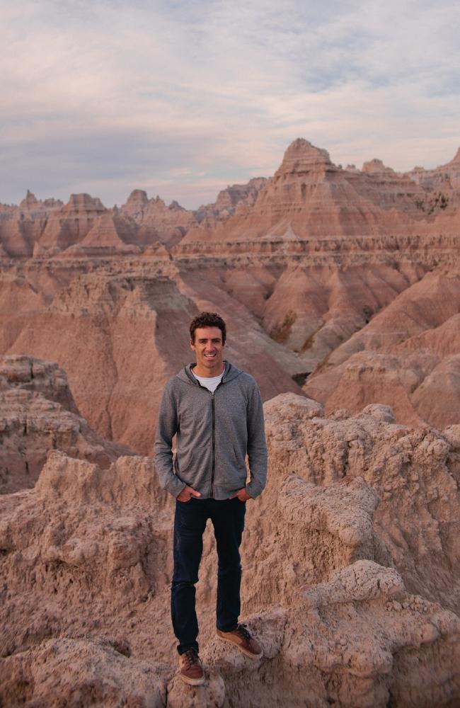 Kirk Owers at South Dakota's Badlands National Park.