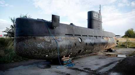 Madsen's submarine. Picture: Jens Dresling/Ritzau Foto via AP, File