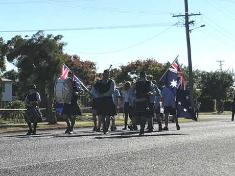Generations came together for the Anzac Day parade in Kumbia.