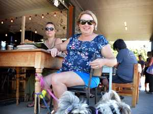 Katie Hulme and her dogs Xavier and Coco.