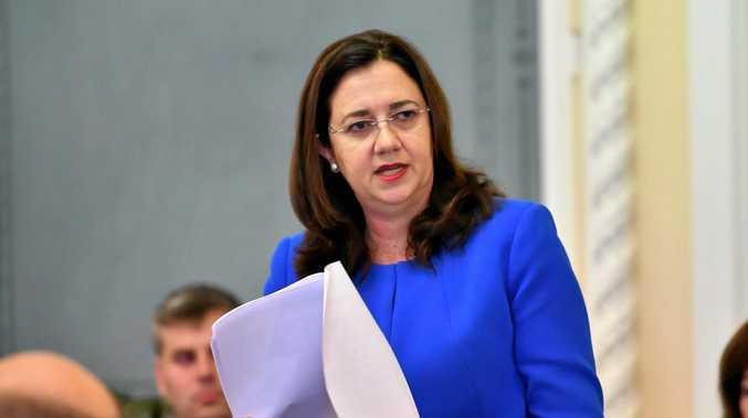 Queensland Premier Annastacia Palaszczuk in Brisbane's Parliament House.