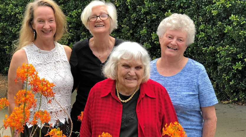 LOVE IS IN THE AIR: Lismore's Rainbow Writers Judith Johnson, Carla Ashburn, Dorothy Martin and Tina Rothbury get together for their monthly meeting to workshop their romance fiction.