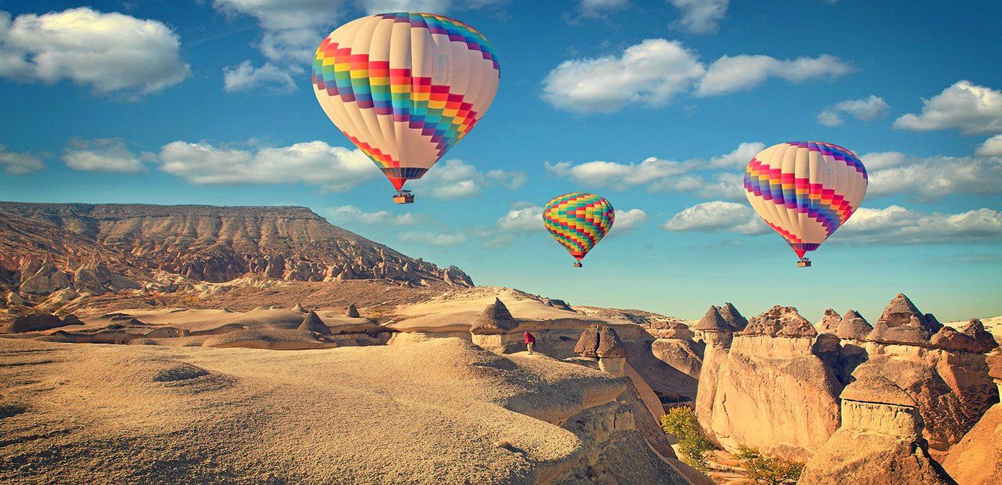 Take A Hot Air Balloon Ride Over Cappadocia, Turkey.