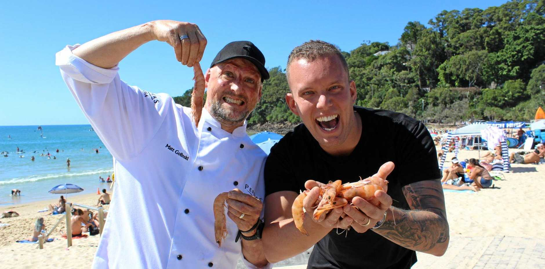 CANNOT WAIT: Celebrity chefs Matt Golinksi and Matt Sinclair are excited to be a part of this year's Noosa Food and Wine festival.