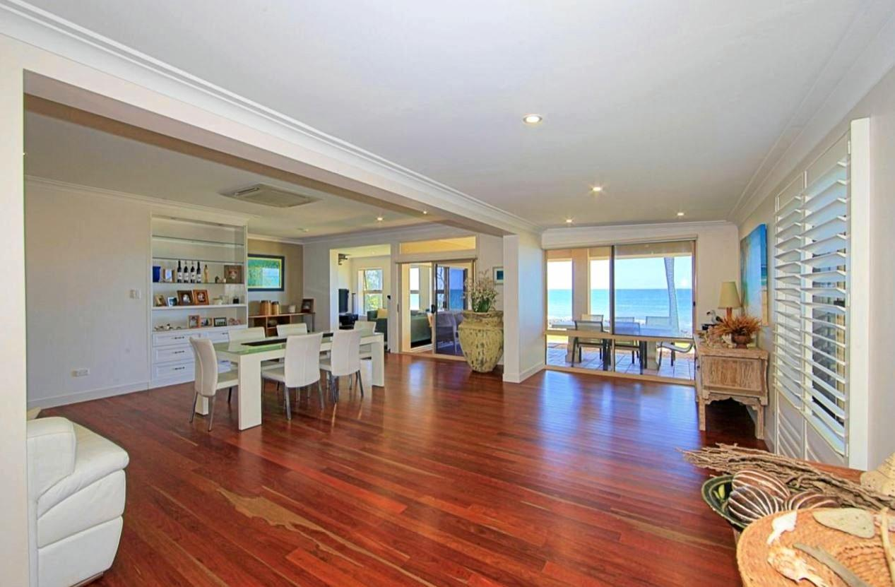 FLASH HOMES: 61 Woongarra Scenic Drive Bargara WITH direct access onto Archies Beach and unrestricted views this property has it all. Enjoy beachfront perfection, this beautifully presented residence owns one of Bargara's most dynamic settings and is one of only a few privileged homes to enjoy direct sandy beach frontage.