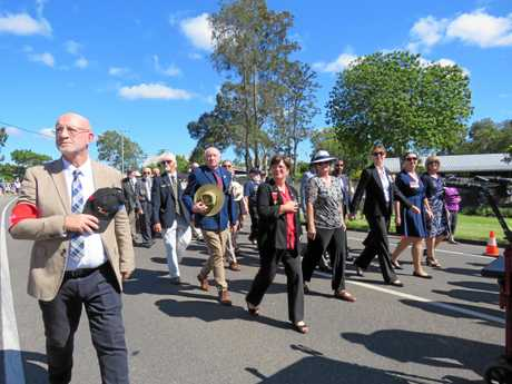 Marchers at Cooroy's Anzac Day event.