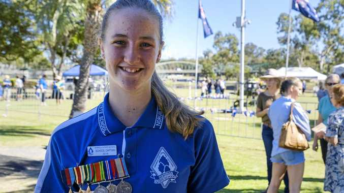 REMEMBER: Sophie Moore and her great-grandad's medals.