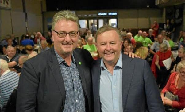 STARTER'S ORDERS: Labor's Anthony Albanese and Cowper candidate Andrew Woodward look to be in early election mode.