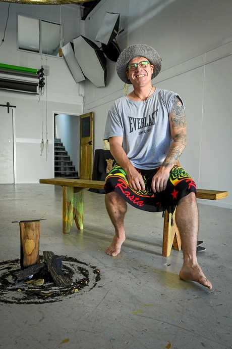 Gladstone artist Luke Wrathall has used his work at QAL as inspiration for his latest artworks.