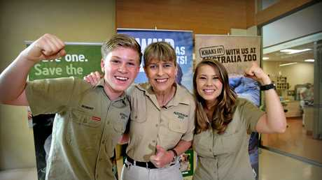 Robert, Terri and Bindi Irwin are excited about Steve Irwin getting a star on the Hollywood Walk of Fame in Los Angeles.