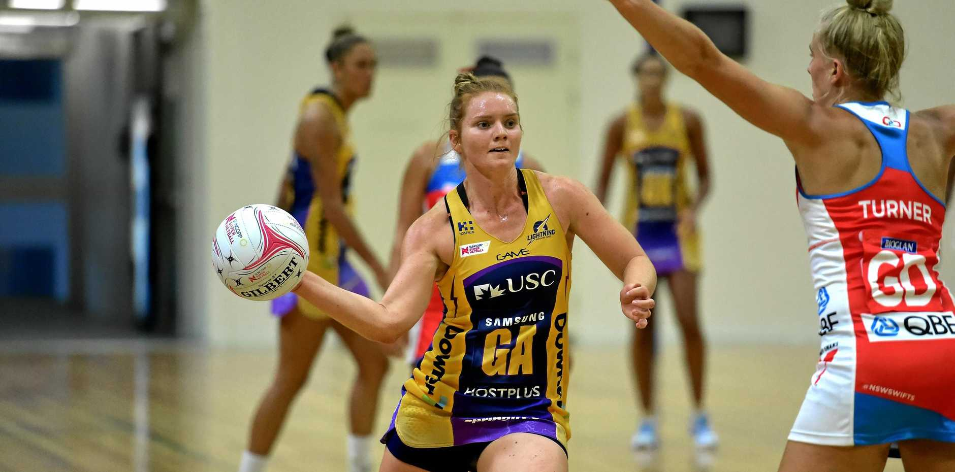 ON THE ATTACK: Lightning's Steph Wood