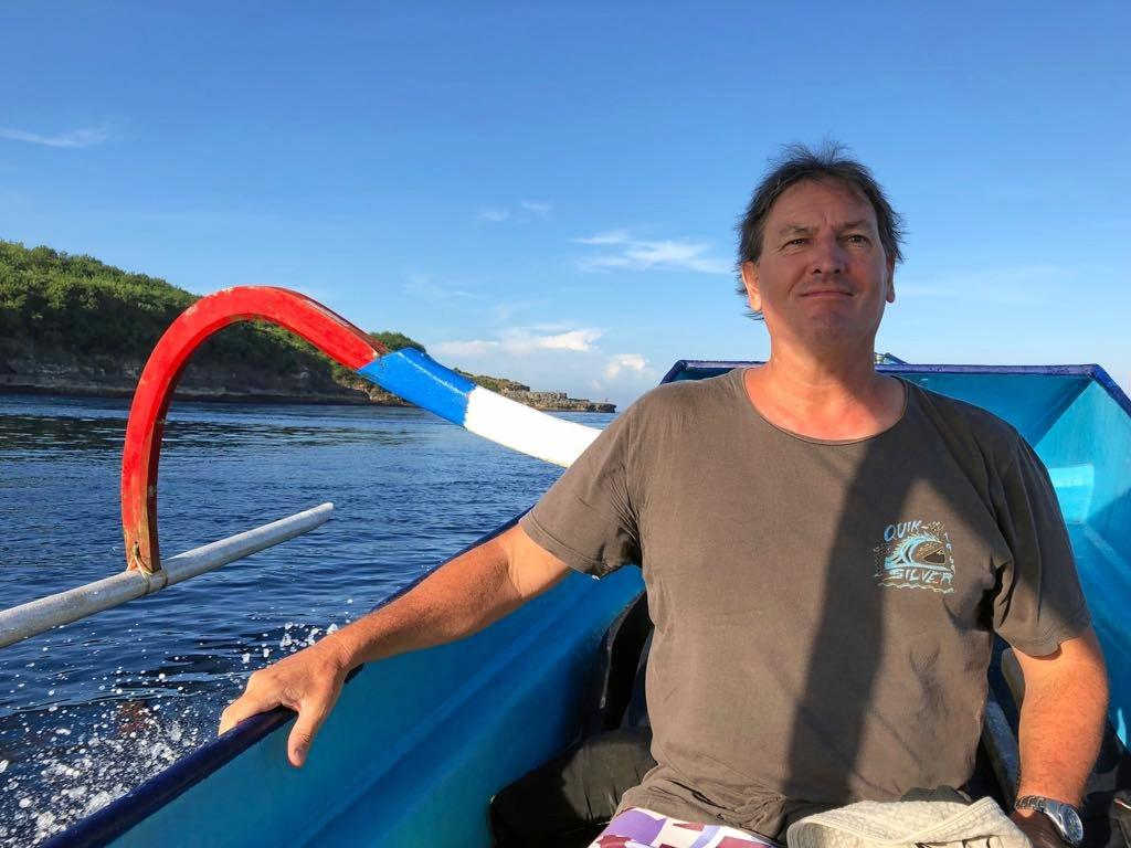 Late Sunshine Coast resident Tony Lines enjoys an Indonesian holiday before his tragic death while surfing at Nusa Lembongan.