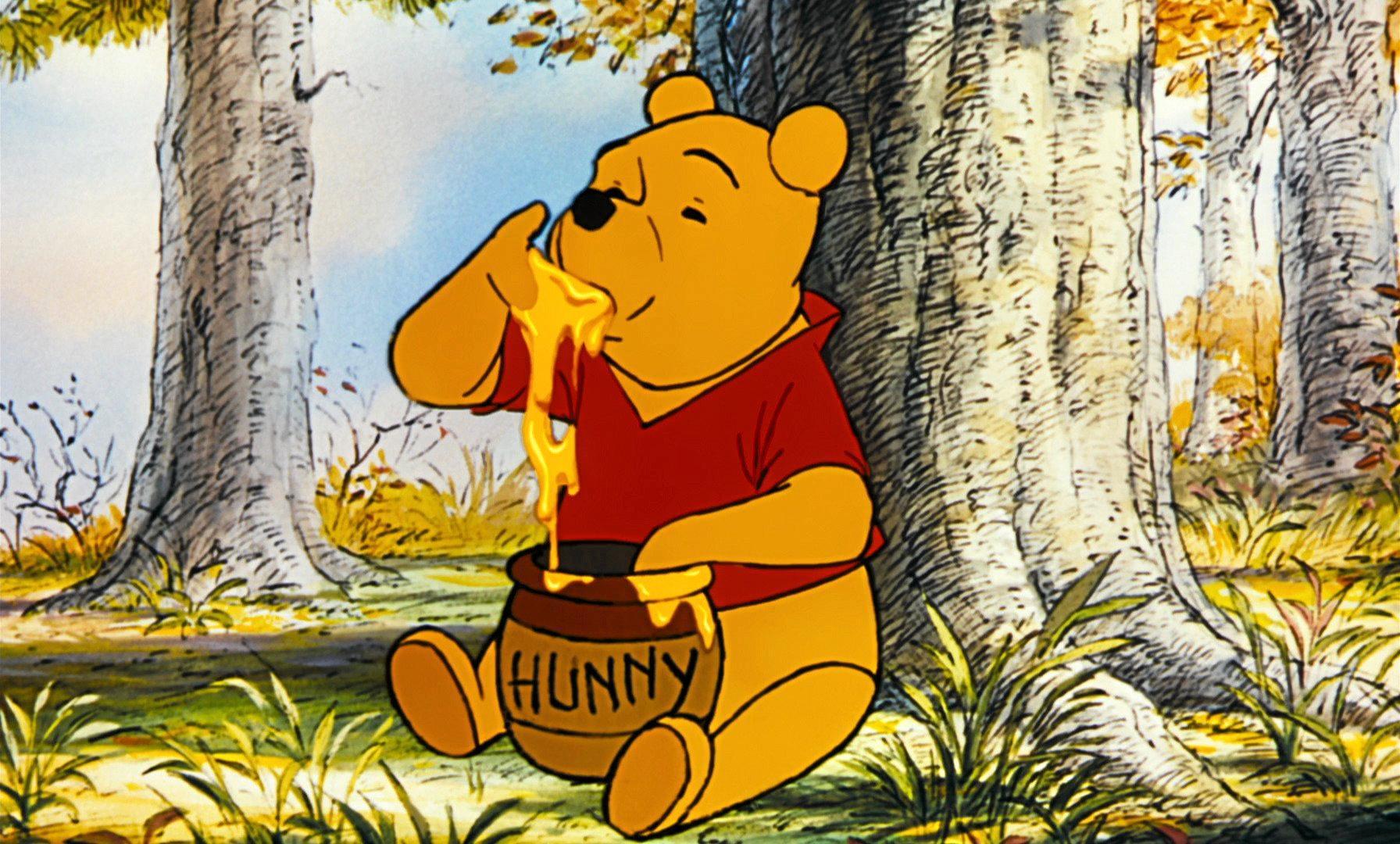 POOH BEAR: A still of Disney's Winnie the Pooh.