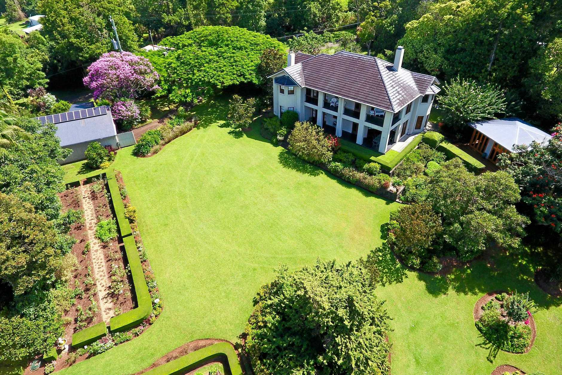 Birds eye view of 327 Western Avenue, Montville which has recently come onto the market, listed for $2 million.