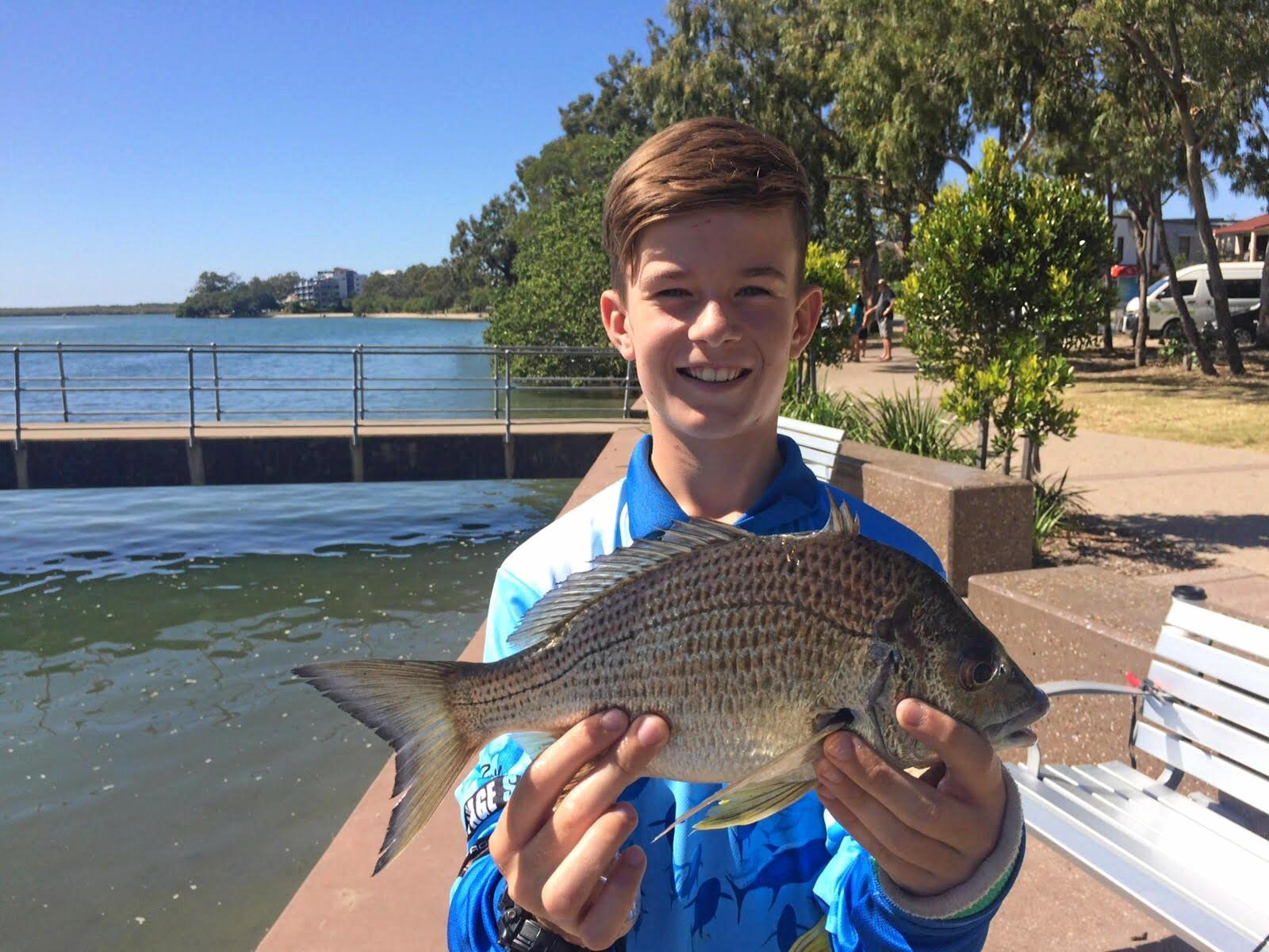 BIG BREAM: Isaac Waller shows off his great 33cm bream taken around Chambers Island.