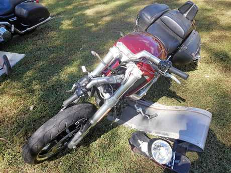 LUCKY: Coral Cove's Stewart McCulloch says he is lucky to be alive after his Harley Davidson collided with a kangaroo on the way to an Anzac Service. He suffered broken bones and requires two surgeries.