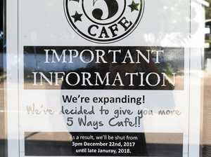 Cafe deserted months after planned re-opening date