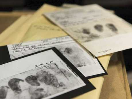 Fingerprints lifted from one of the crime scenes. Picture: FBI
