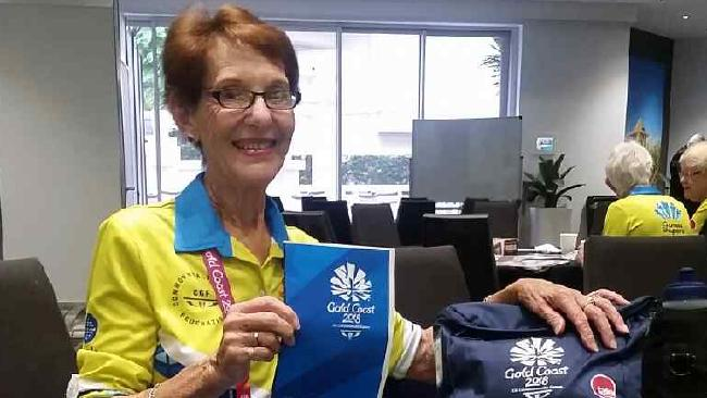 Commonwealth Games volunteer Maeber Gardiner.
