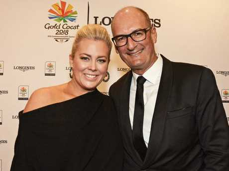 Samantha Armytage and David Koch had a difficult time on the Gold Coast during the Commonwealth Games open broadcast.