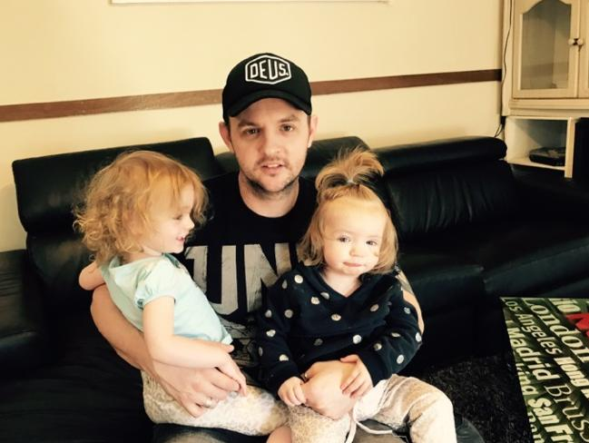 Shane with his two daughters Indi and Evie.