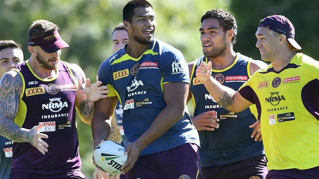 The youngster has impressed in BRoncos training. (AAP Image/Dave Hunt)