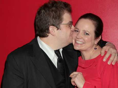 Michelle McNamara, with husband Patton Oswalt, wrote a book on the killer, which has been credited with the renewed interest in the case. Picture: Splash News