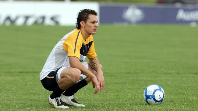 Australian Socceroos training at Carrara on the Gold Coast. Jade North.