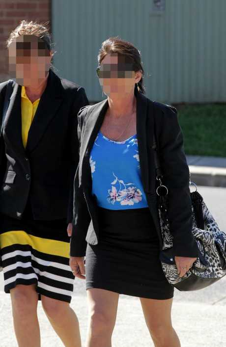 Betty Colt (right) and daughter Raylene at court in the NSW Southern Highlands in 2014.