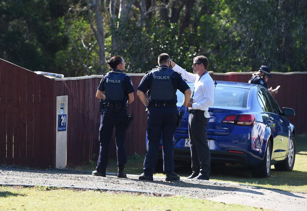 Police at a crime scene in Mungara Court, Wondunna.