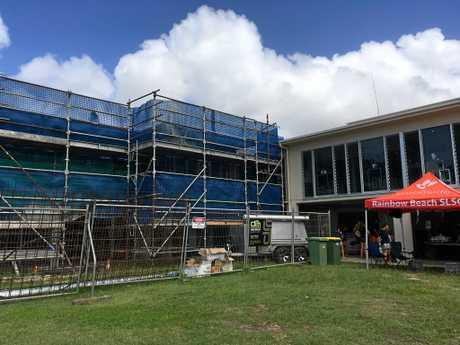 Works are underway to improve the Rainbow Beach Surf Club.