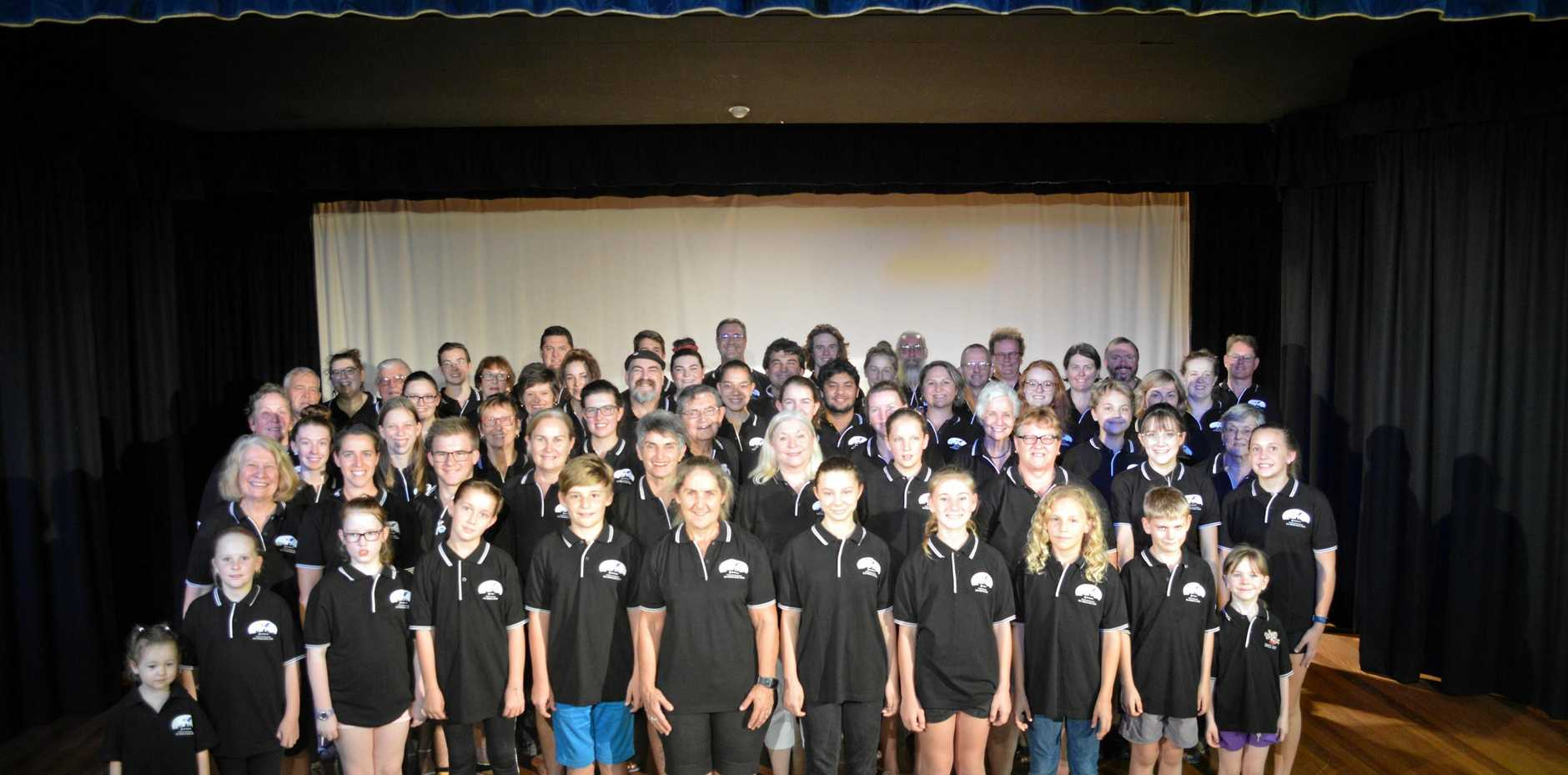The cast of Les Miserables are ready to sing for the South Burnett community, in the production run by the South Burnett Musical Comedy Society.