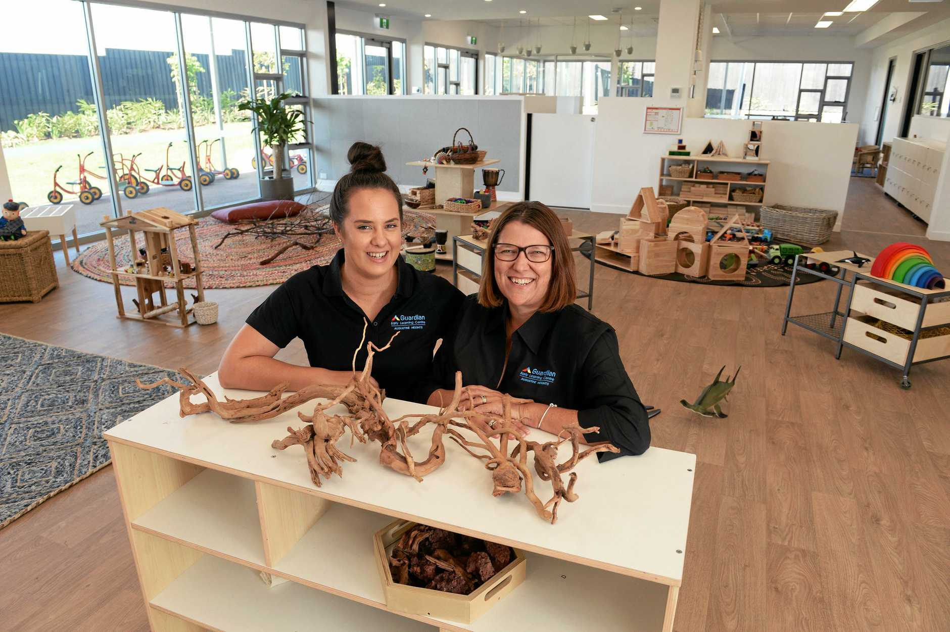 NEW CHILDCARE: Augustine Heights Guardian Early Learning Centre assistant manager Arielle Waples and centre manager Meaghan Westwood.