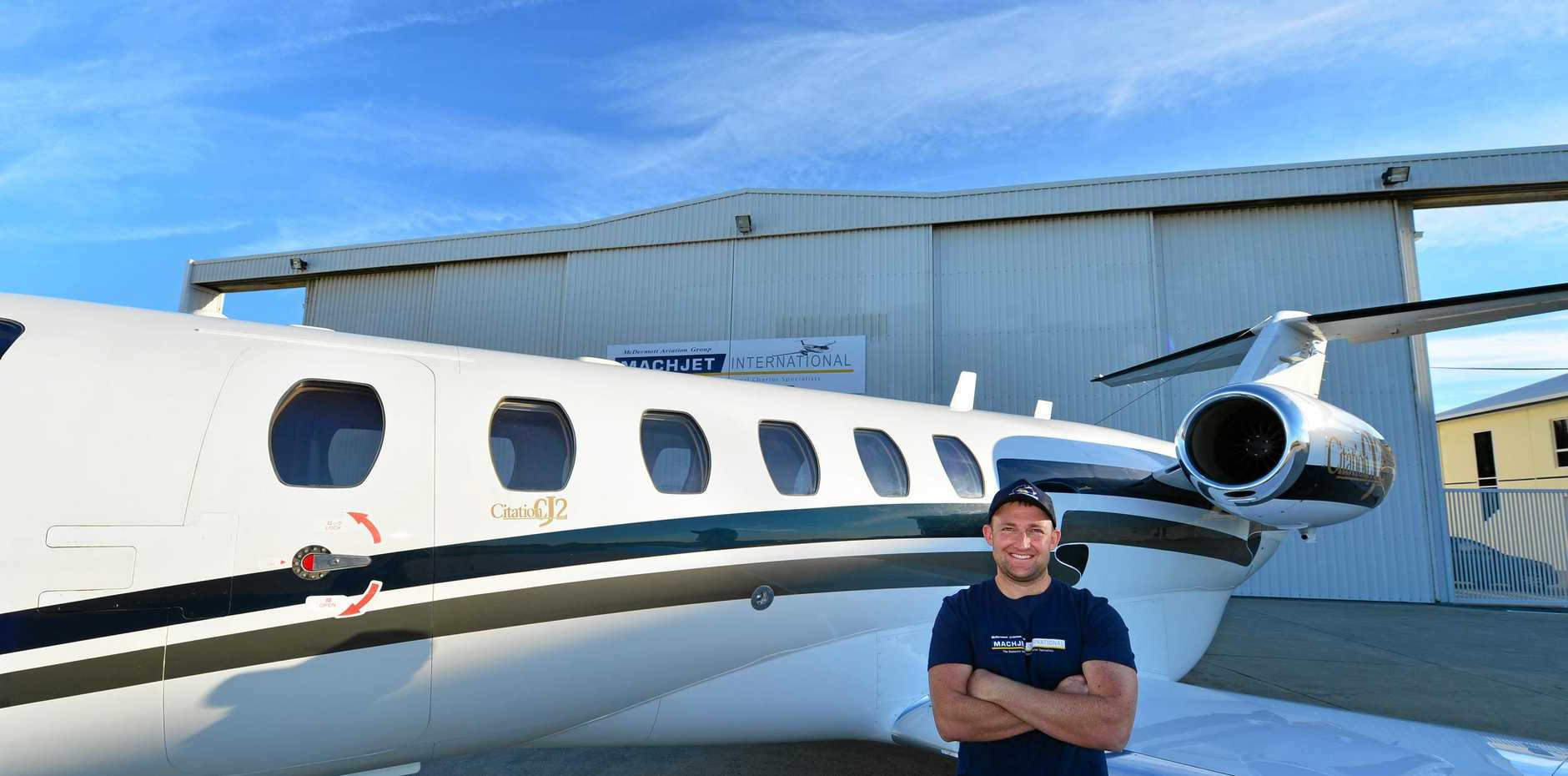 ONE of McDermott Aviation's fixed-wing Cessna Citation air ambulances that flew to Fiji to evacuate a Sunshine Coast woman badly injured while on a Pacific cruise.