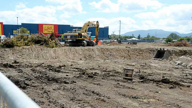 Aldi construction site on Gladstone Road, Rockhampton.
