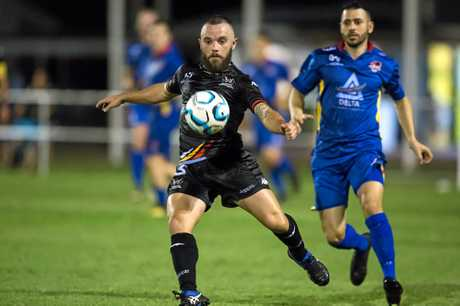 Magpies Crusaders will have to do without Kyle McBurney (pictured) against Brisbane CIty after the defender was red-carded in the side's 1-nil win over Cairns.