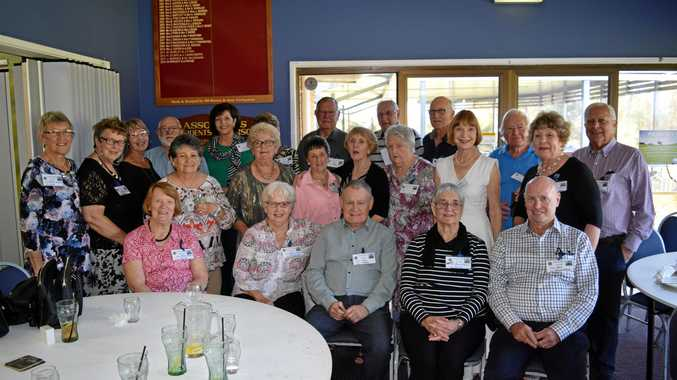 The class of 1959 at the 1956-1961 Warwick State High School reunion.