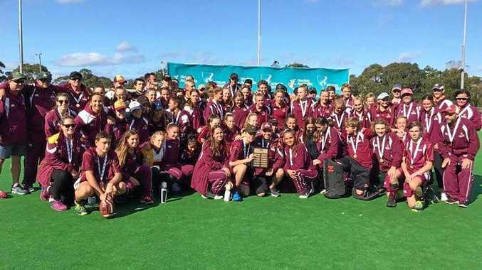 Queensland's Australia under-15 Hockey Championship teams.Results: Boys Maroon National Champions, Girls Maroon Bronze, Boys Gold team 8th, Girls Gold team 5th