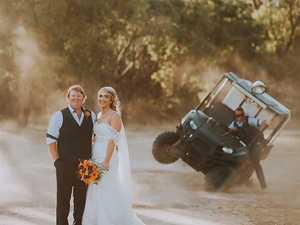 Going, going, gone: Crash steals spotlight from newlyweds