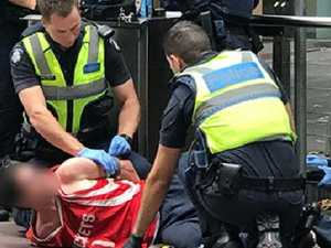Dramatic arrest in Melbourne CBD