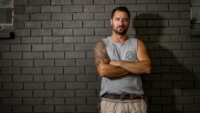 Builder Blake Lockhart is one of many of the tradies owed $200k by a Broadbeach operator. Picture: Jerad Williams