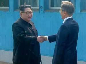 Historic moment as Korean leaders meet
