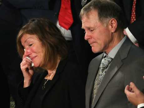 Otto Warmbier's parents, Fred and Cindy, have filed a lawsuit against North Korea over the death of their son. Picture: Chip Somodevilla/Getty Images/AFP