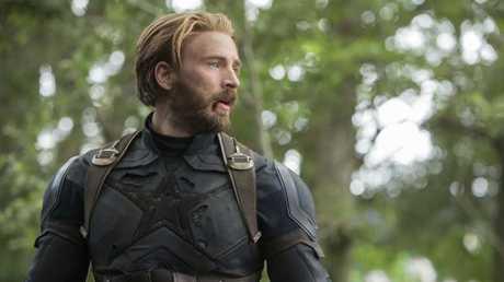 Chris Evan as Cap, aka 'The First Avenger'. Picture: Chuck Zlotnick/Marvel Studios 2018