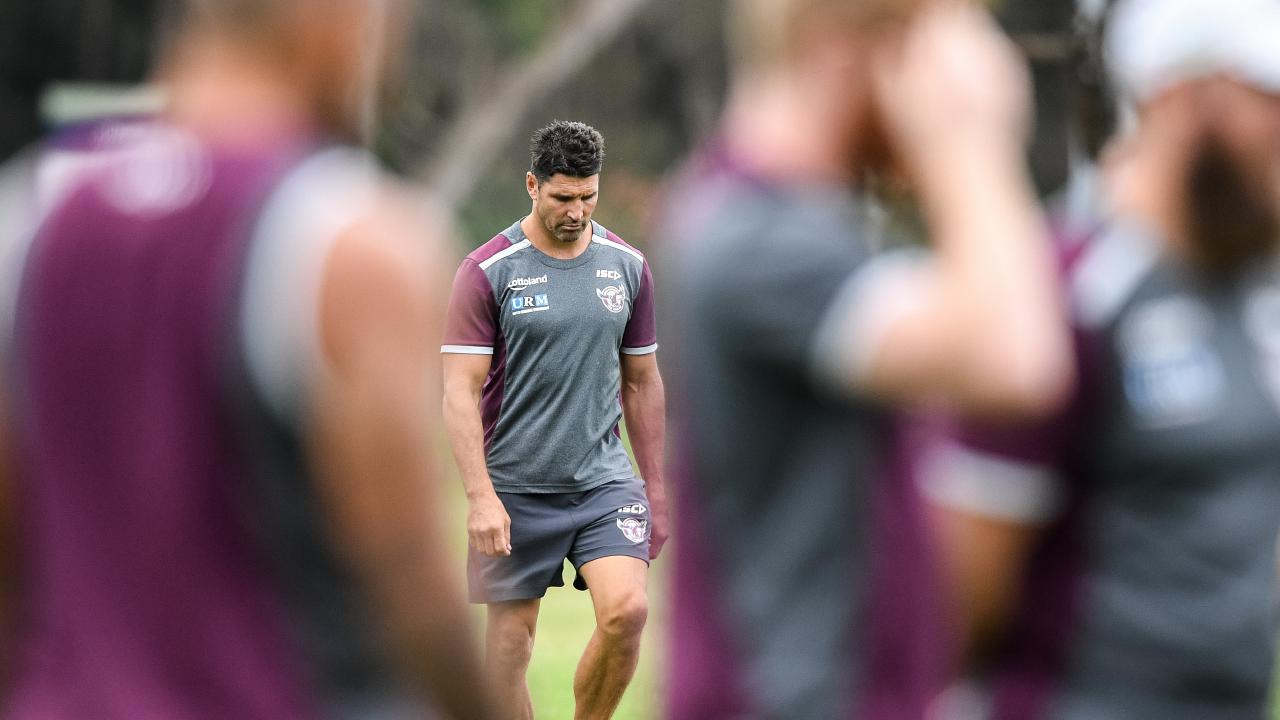 Players ignoring instructions from their coach is not a good sign for Trent Barrett. Photo: Brendan Esposito