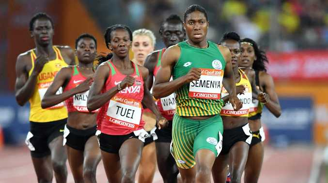 Caster Semenya won the 800m-1500m double on the Gold Coast.