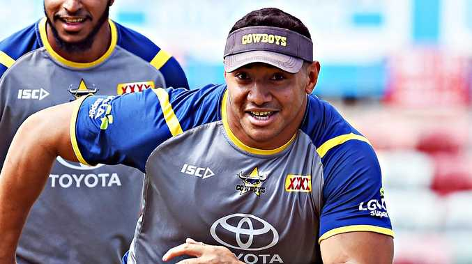 Cowboys training from 1300 Smiles Stadium. Jason Taumalolo. Picture: Zak Simmonds