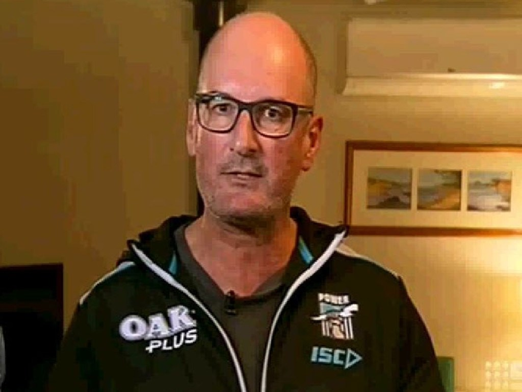 David Koch appearing on the Footy Show.