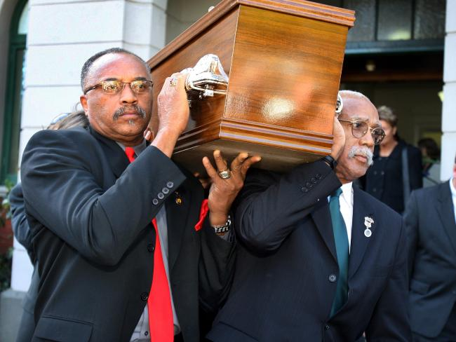 Tommie Smith and John Carlos later carried the coffin at Peter Norman's funeral.