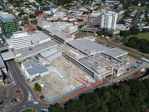 Drone footage of CBD development